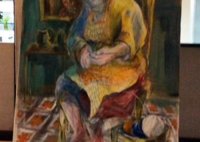 Obra de Mirta Córdoba expuesta en el Consejo Deliberante de Neuquén