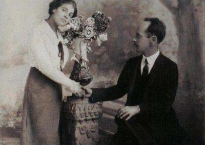 Tina y Edward - Autor desconocido