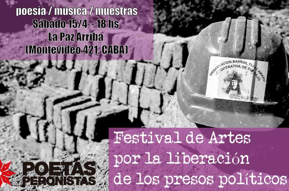 Festival de Artes por la liberación de los presos políticos